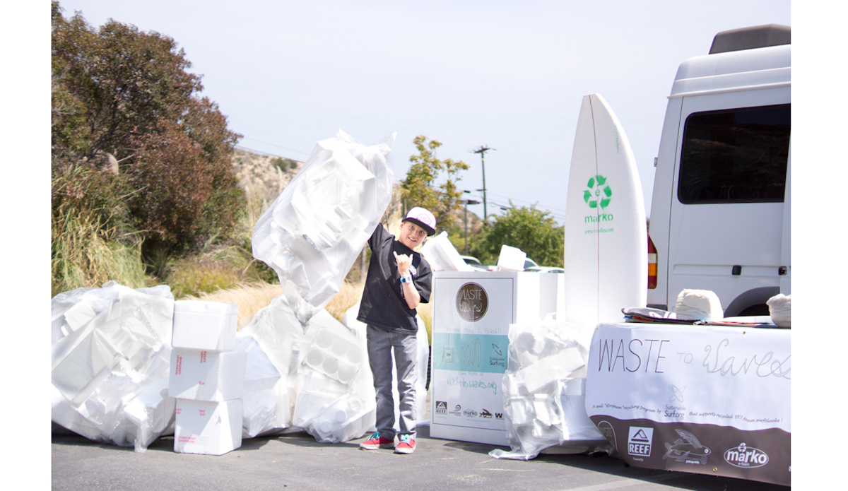 """<a href=\""""http://sustainablesurf.org/\"""">Sustainable Surf</a> - Surfboard design has made great strides in recent years, with shapers recognizing the need for change. Sustainable Surf's <a href=\""""http://wastetowaves.org/\"""">Waste to Waves</a> program turns collected styrofoam waste into blanks for surfboards, creating a great solution for a material that often clutters our lineups. Additionally, the ECOBOARD project sets guidelines to reduce the environmental impact of surfboard manufacturing through recycled or biological foam, resin epoxy with biological content, and alternative sustainable structures to reduce reliance on toxic materials. More than 25 major shapers are involved in the initiative.  Photo: Kevin Whilden"""