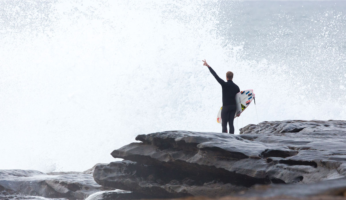 "Jamie O\'Brien celebrating Ours. Photo: <a href=""http://www.redbullcapefear.com/\""> Red Bull</a>"
