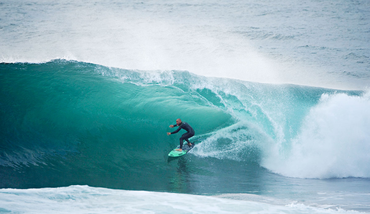 "Shane Dorian\'s no stranger to heavy waves. Photo: <a href=""http://www.redbullcapefear.com/\""> Red Bull</a>"