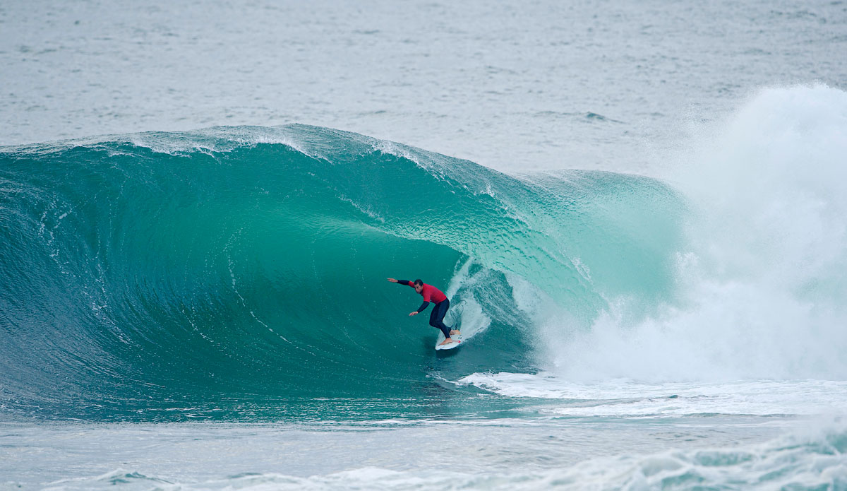 "Ryan Hipwood on an insanely thick one. Photo: <a href=""http://www.redbullcapefear.com/\""> Red Bull</a>"