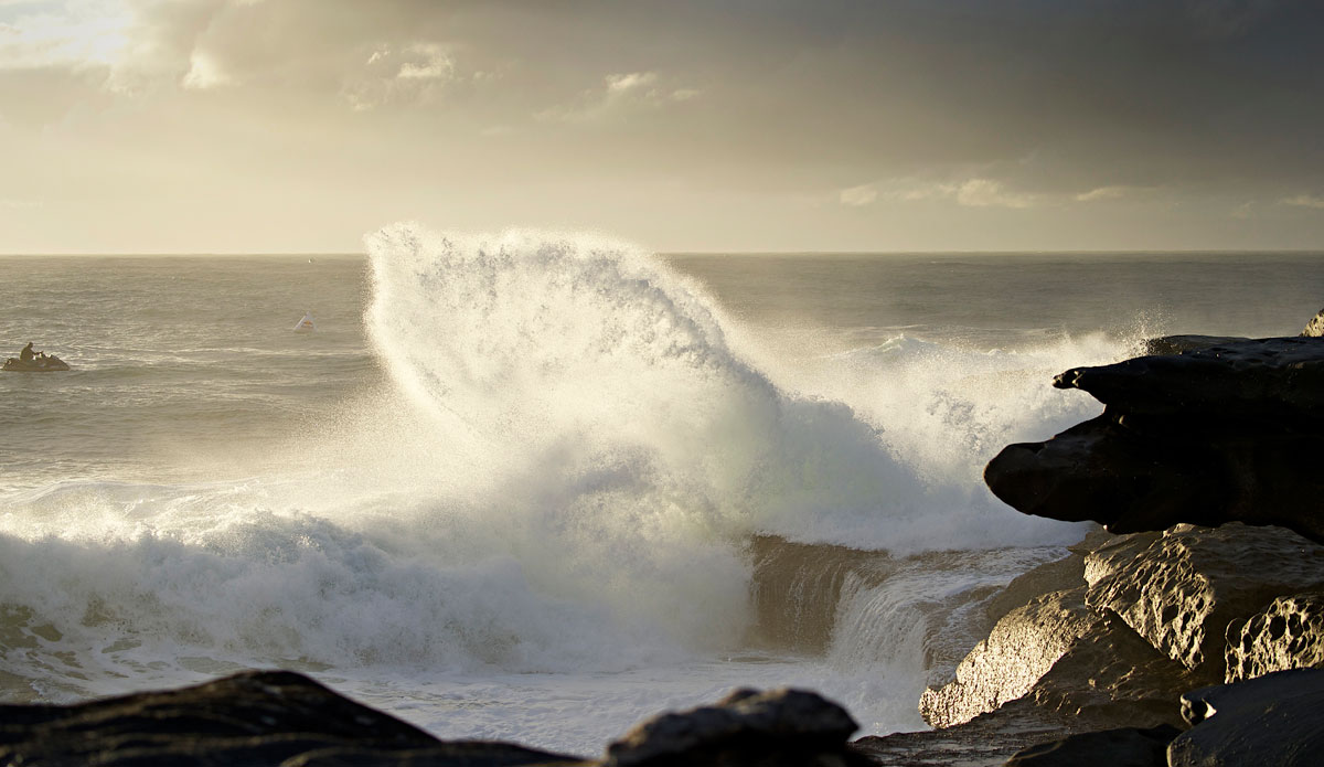 "The backwash at Ours is both beautiful and dangerous. Photo: <a href=""http://www.redbullcapefear.com/\""> Red Bull</a>"