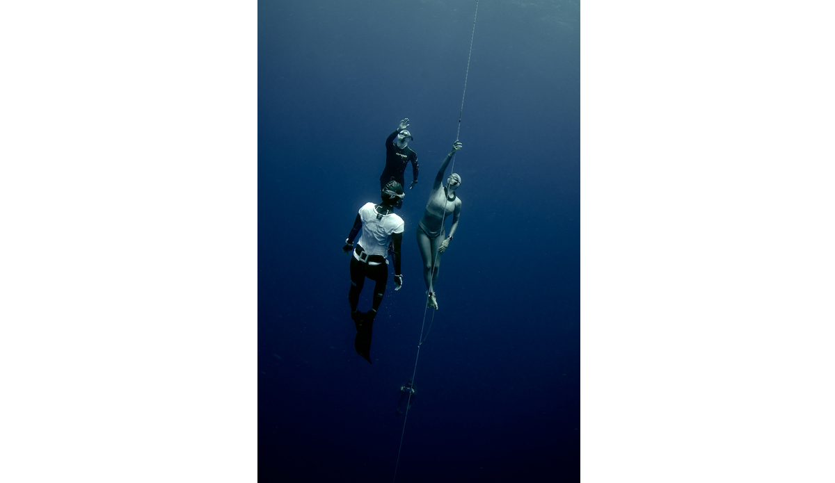 "USA\'s Ashley Chapman doing a Free Immersion dive, Day 3. Photo: <a href=\""http://liabarrettphotography.com/\"" target=_blank>Lia Barrett</a>"
