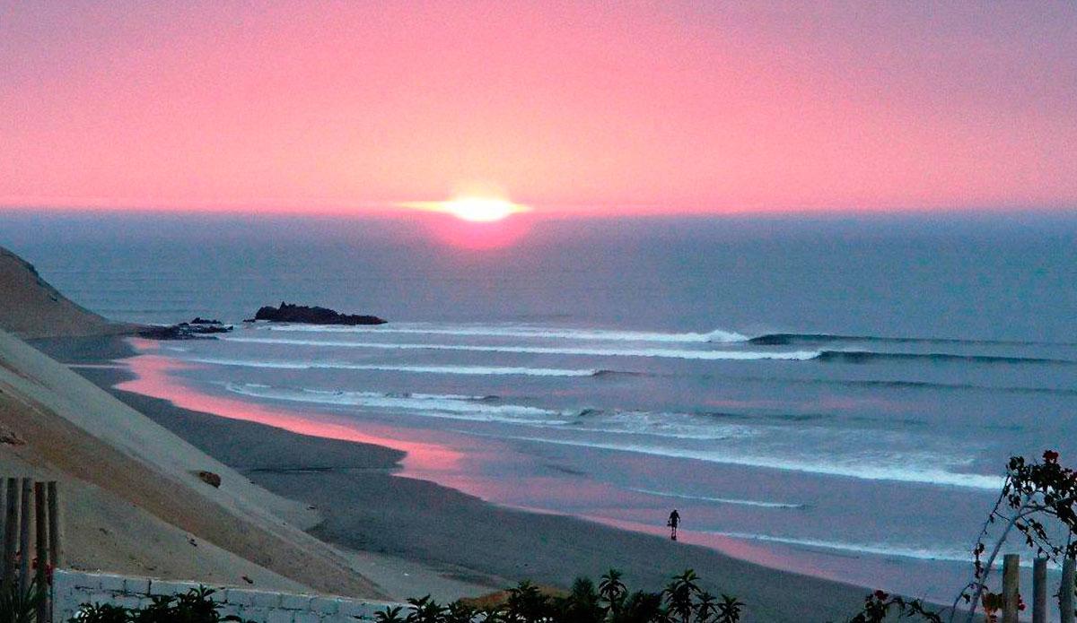 Sunset over Peru.