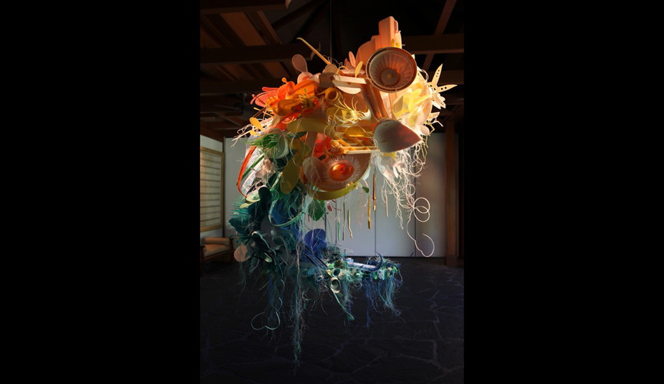 """The material for this piece was collected by the Hawaii Wildlife Fund at Kimilo Point, HI. <a href=\""""www.aurorarobson.com\"""" target=\""""_blank\"""">Aurora Robson</a>."""