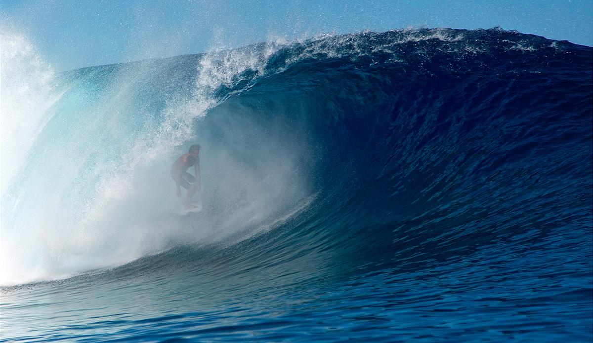 Matehau Tetopata is always deepest. Photo: Romauld Piquet