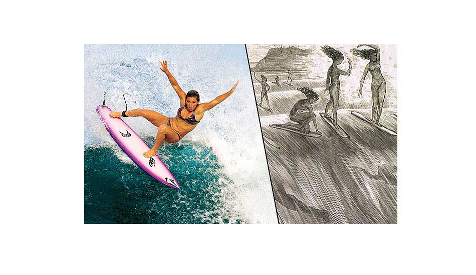 1. Surfing originated in Hawaii. It only makes sense. It's essentially our state\'s identity, and among the best features we have to offer. Hawaii is surfing. Photo: Jason Kenworthy (L), Maids on the Wave by Wallace Mackay (R)