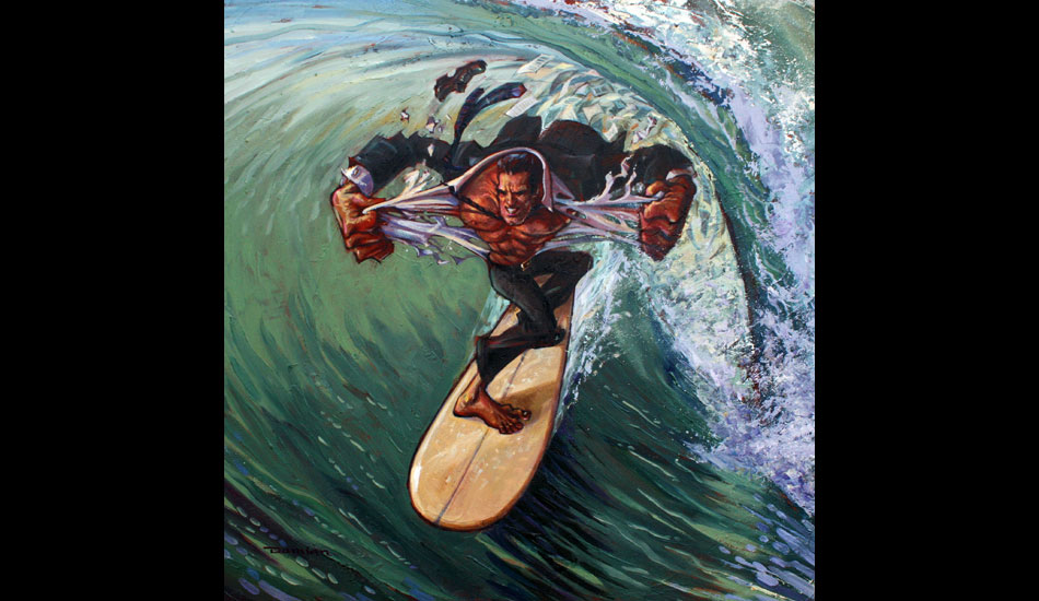 """Left Behind: There is nothing like a week's worth of work BS stripped clean by a good surf. <a href=\""""http://www.damianfultonart.com/\"""">Damian Fulton</a>"""