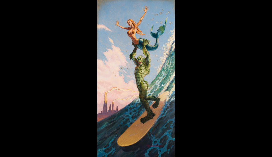 """Maid in heaven: Preposterous? Yes. But in the tradition of Norman Rockwell, there's a feel-good story in this scenario. <a href=\""""http://www.damianfultonart.com/\"""">Damian Fulton</a>"""