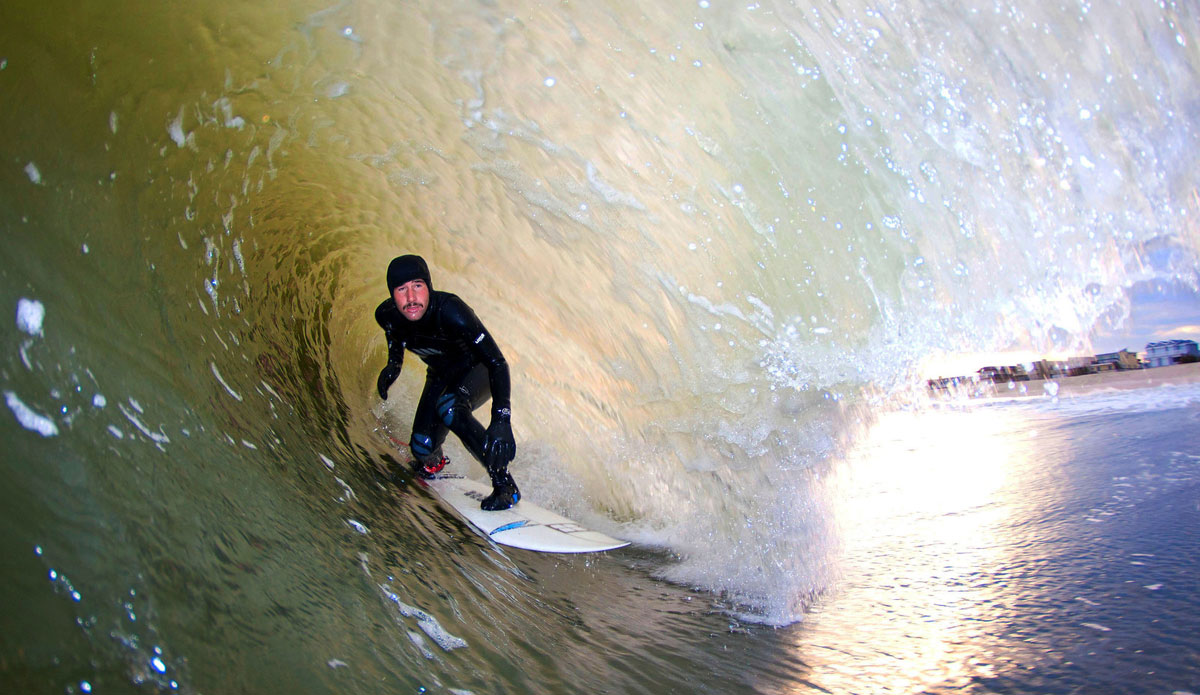 """Tom Petriken. LBI, NJ. \""""This past winter pumped for four months straight. Things didn\'t get monotonous, but I was able to look for other ways to appreciate the surf.\"""" Photo: <a href=\""""http://www.mikeincittiphotography.com/\""""> Mike Incitti.</a>"""