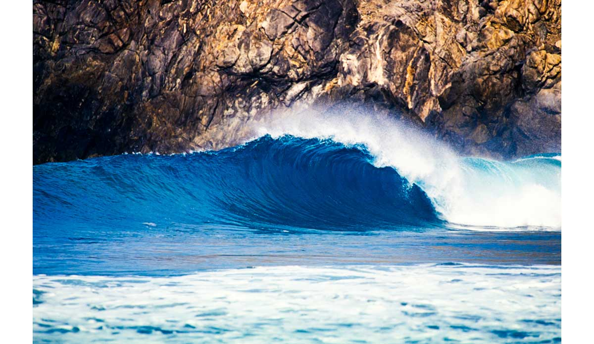 "One of the most rewarding things you can do as a surf photographer is find a new wave that nobody has surfed before.  I\'ve driven by this spot dozens of times and have never seen it actually break.  In fact, I didn\'t even know there was a wave here and it had been right in front of me for years.  Some ""guys\"" and I shot photos for about an hour here before the tide got weird and it completely shut off.  I check this spot every time I am in the area and I\'ve never seen it break since this day.  By the way, another one of the most rewarding things a photographer can do is to keep a spot secret. Photo: <a href=\""http://anthonyghigliaprints.com/\"">Anthony Ghiglia</a>"