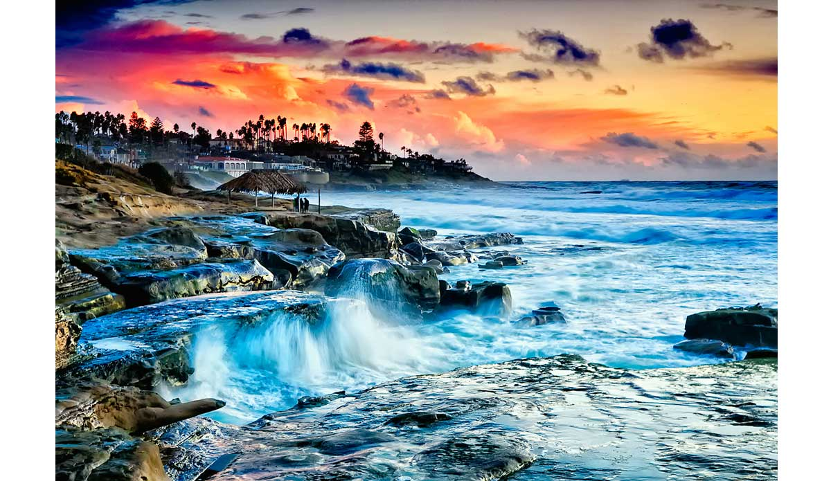 "While this image is an example of a digital photography possibly pushed a little too far, the reason it\'s included is because it was around this time that I relocated residence to the Windansea area of La Jolla.  My morning routine nearly everyday that I was in the country would include driving by every reef in La Jolla to see if anything was worth shooting.  I actually still do this most days now.  As it pertains to my photography, it  was after I moved to La Jolla that I also started getting back in touch with shooting subject matter outside of surfing and more towards the environment. Photo: <a href=""http://anthonyghigliaprints.com/\"">Anthony Ghiglia</a>"