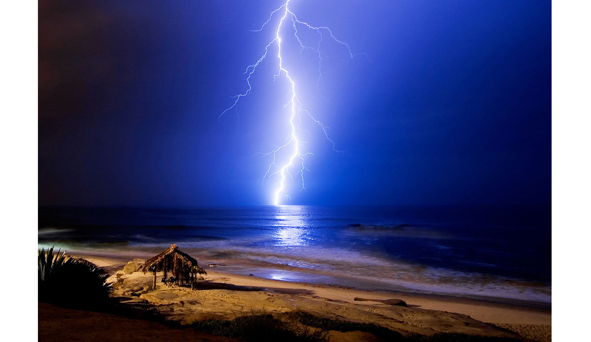 "A couple years after moving to La Jolla I shot this image of the Windansea shack during a rare lightning storm.  I shot photos in this location for about 4 hours until I finally got the shot I was waiting for.  When I got home I did a quick process on this image and emailed it to about a dozen friends.  The next day when I woke up I had over 400 new emails from people all over the world inquiring about this photo.  I was really blown away.  It gave me a glimpse of the impact that digital photography would have on my ability to share moments and experiences instantly.  Coincidentally, this image was shot the same month that Facebook was launched. Photo: <a href=""http://anthonyghigliaprints.com/\"">Anthony Ghiglia</a>"
