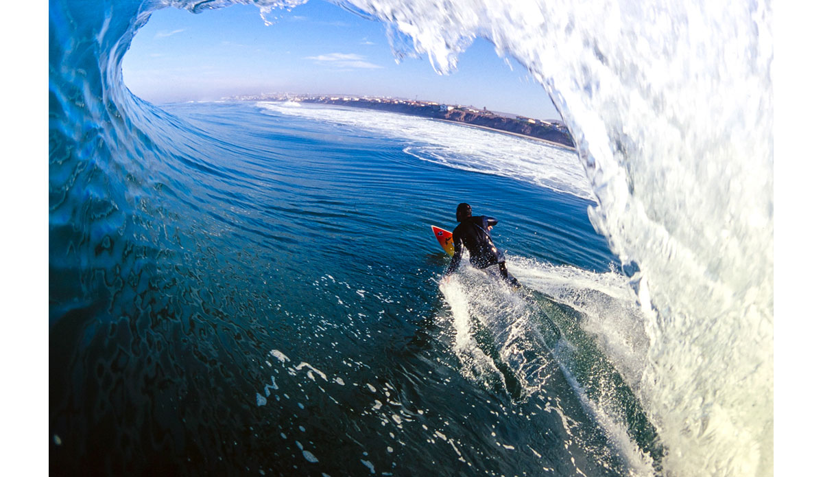 "I was finally starting to get more creative with the water photography while interning at Surfer and being inspired by all the amazing images that found their way across the light table.  This shot of Larry Kraus was my first two-page spread in Surfer Magazine.  Larry is a good friend today and we surf together all the time. Photo: <a href=""http://anthonyghigliaprints.com/\"">Anthony Ghiglia</a>"
