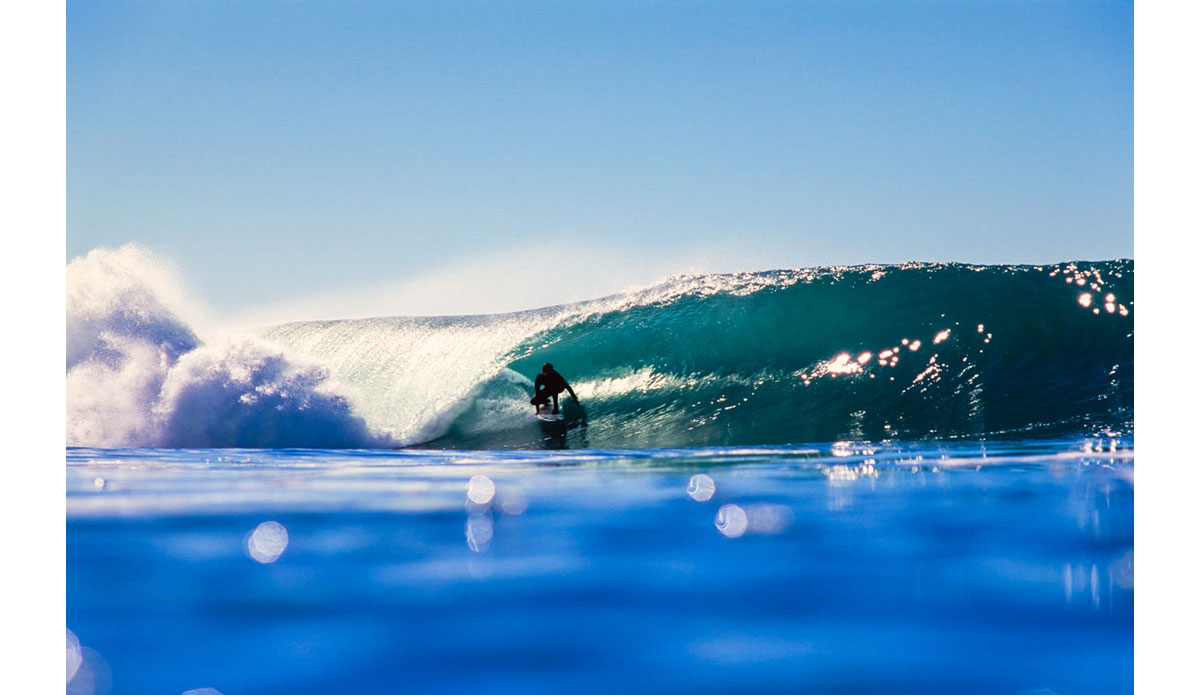 "Back when this image was taken (2000) there were basically only a few guys shooting photos in San Diego.  Tom Rulon covered south county well and Rob Gilley had North County locked up nice.  While both of those guys would occasionally shoot in La Jolla, I made it a mission to shoot with as many of La Jolla\'s best surfers as I could.  This is an image of Derek Dunfee on an absolutely flawless day. Photo: <a href=""http://anthonyghigliaprints.com/\"">Anthony Ghiglia</a>"
