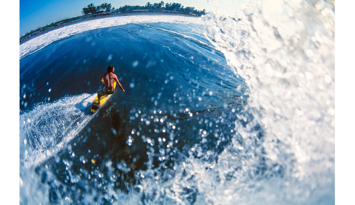 "Before Surfer started footing the travel bills for me, occasionally a friend/pro surfer would help pay my way.  Sean Fowler, shown here, bought me a ticket to Mainland Mexico back in 2000 for $200.  I spent two weeks with him shooting in heavy beach break and exploring some remote areas of Mex. Photo: <a href=""http://anthonyghigliaprints.com/\"">Anthony Ghiglia</a>"