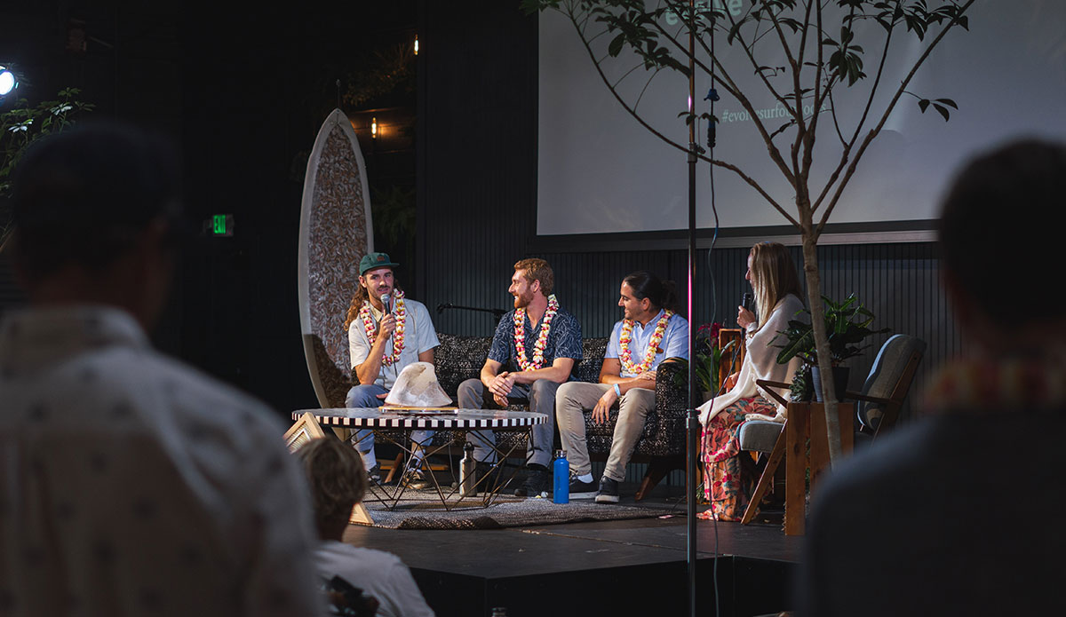 "Daniel Murphy, Ben Judkins, Taylor Lane, and Alison Teal discussed ocean health. Photo: <a href=""https://jeremybishopphotography.com/\"">Jeremy Bishop</a>"