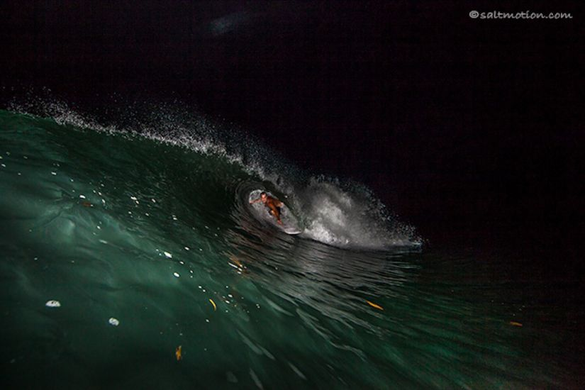 Experimental gentlemen never take a session off. Nighttime barrels included.