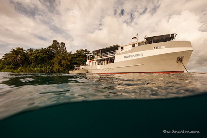 PNG Explorer deep in foreign waters.