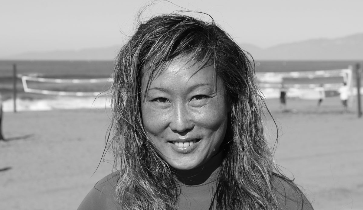 "Celeste Kim: Musician; Palos Verdes, CA - ""I come here pretty regularly and I know all of the people who surf here. So, it's kind of like we're all here at the same time. We're out in the water and it just feels like family. It's super fun. I love it."" Photo: Dunn"