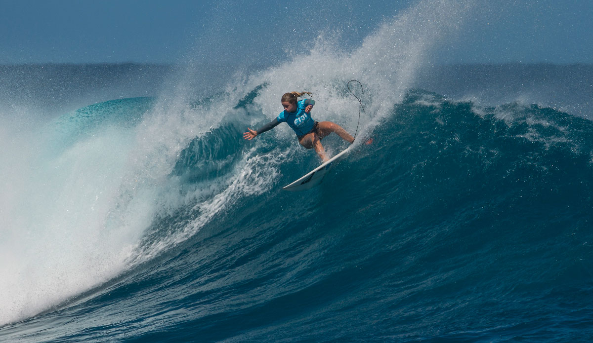 "Bianca Buitendag with a clean attack. Photo: <a href=""http://www.aspworldtour.com/\"">ASP</a>"
