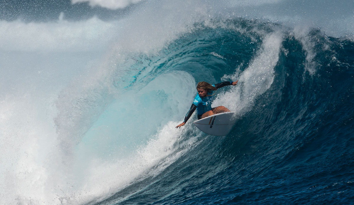 "Paige Hareb putting it on rail. Photo: <a href=""http://www.aspworldtour.com/\"">ASP</a>"
