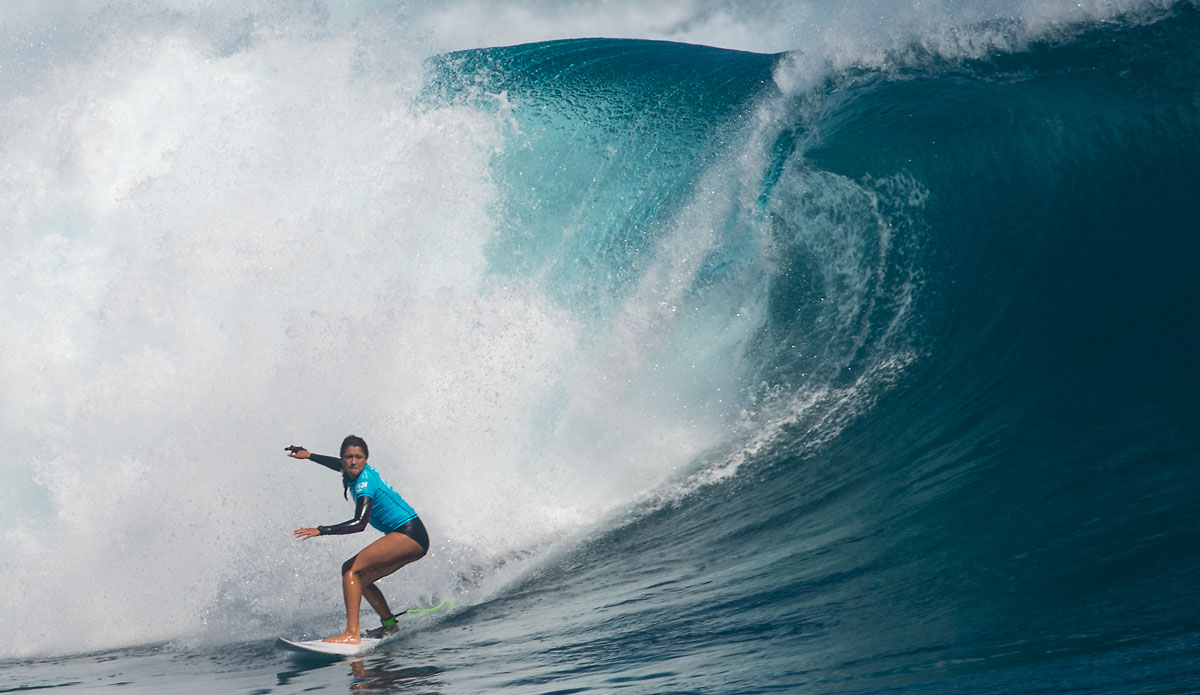 "Malia Manuel was a standout through the entire contest. Photo: <a href=""http://www.aspworldtour.com/\"">ASP</a>"