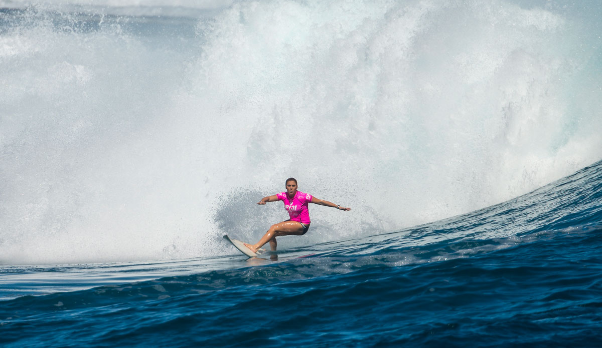 "Dimity Stoyle is consistently showing that she\'s got what it takes to play at this level. Photo: <a href=""http://www.aspworldtour.com/\"">ASP</a>"