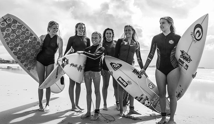 Ivy Thomas, Lani Moorehouse, Cali Barrett, Eboyn Wilson, Alyssa Lock, Lucy Callister. Photo: Fran Miller