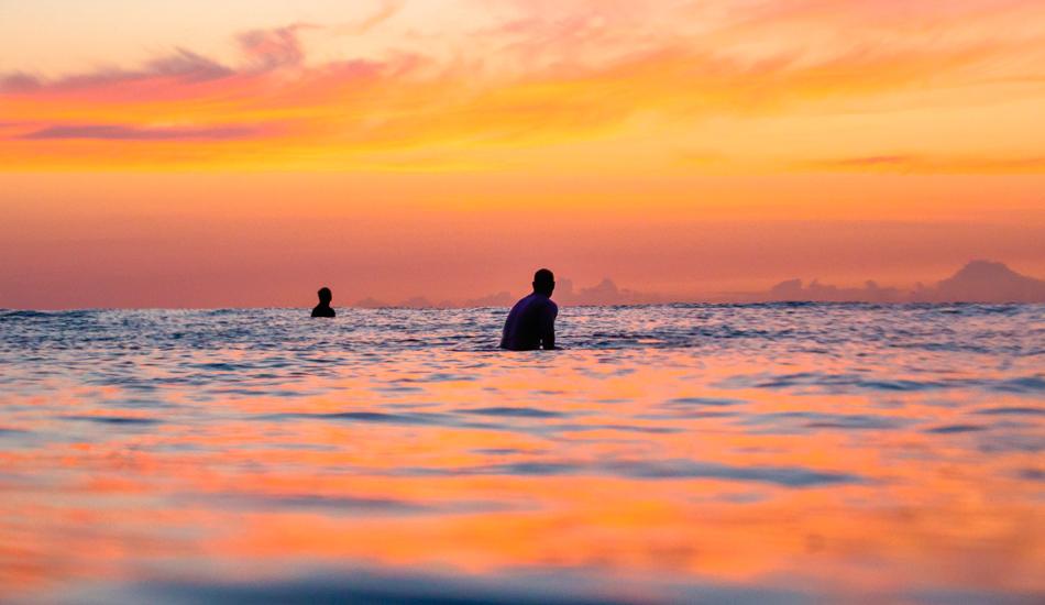 """Father & Son. Sunrise Bliss. Photo: <a href=\""""http://www.chrisfrickphotography.com/\"""" target=_blank>Chris Frick</a>/<a href=\""""http://aquatech.net\"""">Aquatech</a>"""