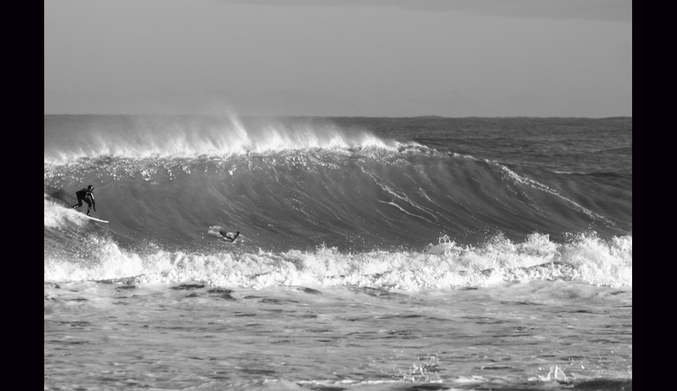 """First Jetty, OBX, NC, 2010. Brett Barley dropping into a bomb. Photo: <a href=\""""http://www.chrisfrickphotography.com/\"""" target=_blank>Chris Frick</a>"""