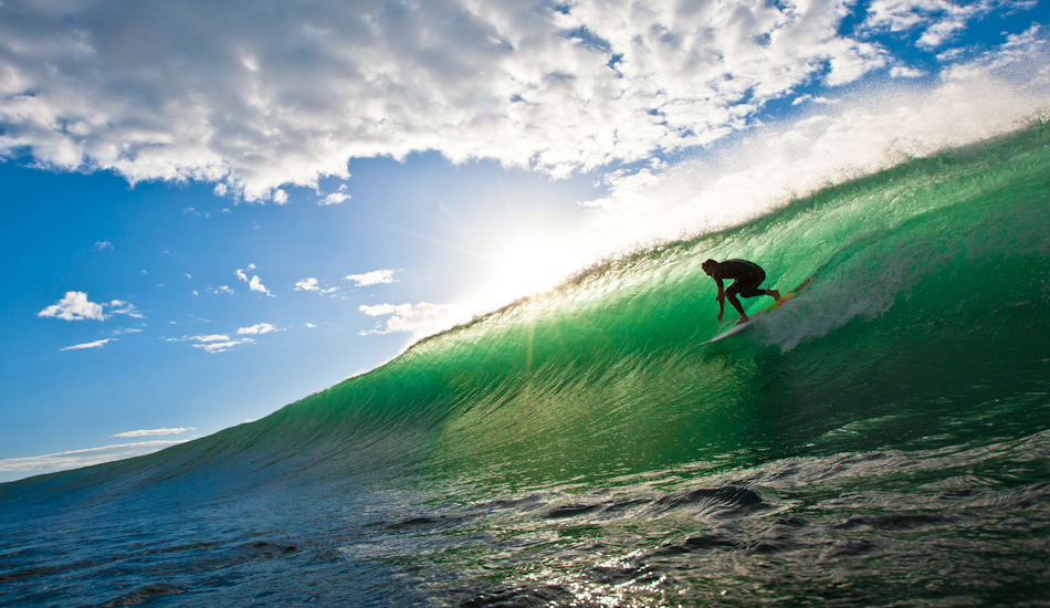 "Kieren Perrow enjoying the goods at home. This was my first ever published shot as a double page spread in one of the major surf mags. Image: <a href=""http://www.alexfrings.com\"" target=\""_blank\"">Frings</a>"