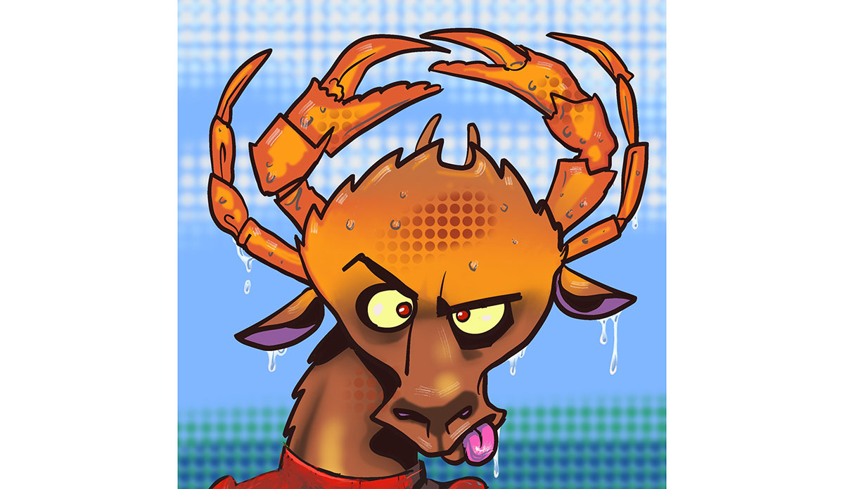 """Crabby Daddy. <a href=\""""https://opensea.io/assets/seamugz\"""" target=\""""_blank\"""" rel=\""""noopener\"""">Buy here</a>"""