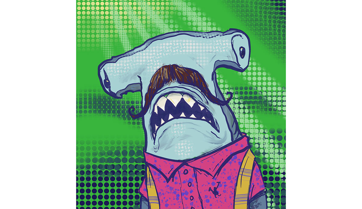 """Hammerhead Hipster. <a href=\""""https://opensea.io/assets/seamugz\"""" target=\""""_blank\"""" rel=\""""noopener\"""">Buy here</a>"""