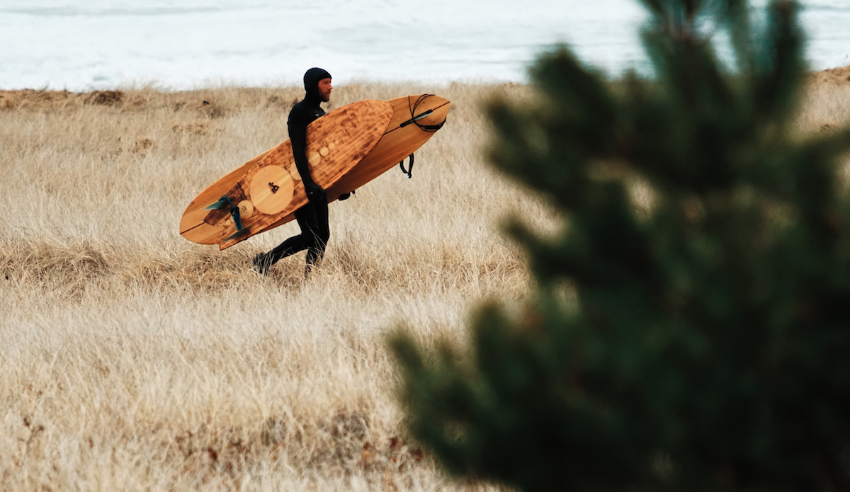 """<a href=\""""https://www.instagram.com/n0land0/\"""">Nolan</a>  finally surfed out. In one hand his twinnie, in the other the <a href=\""""https://www.instagram.com/ryanlovelace/?hl=en\"""">Ryan Lovelace</a> """"Thick Lizzy"""". Photo: <a href=\""""https://www.instagram.com/gabereuben/?hl=en\""""> Gabe Reuben </a>"""