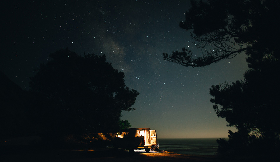 "Sometimes living in a van can be hard work but the rewards far outweigh the negatives. A beautiful place to call home for a night in the amazing Big Sur, California. Photo: <a href=""http://www.gaz-art.com/\"">Gary Parker</a>"
