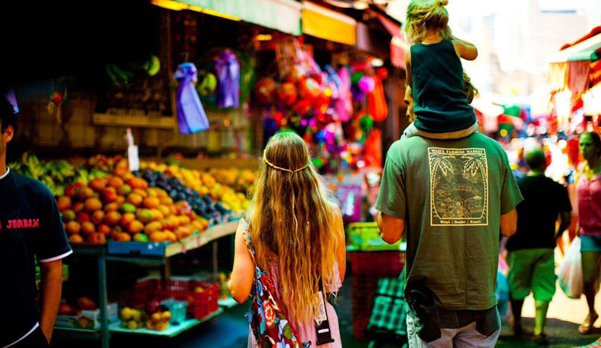 Navigating a market in Israel. Photo: Cody Welsh