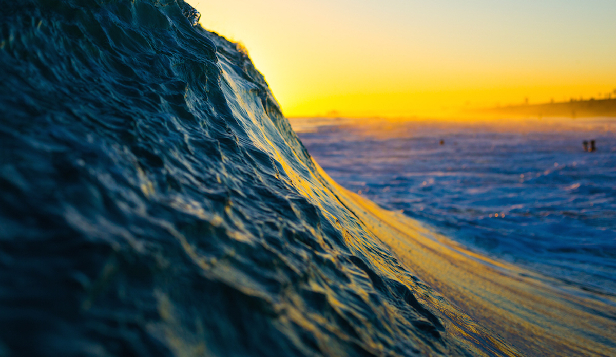 Textured Slope. Shot during the golden hour at The Wedge.