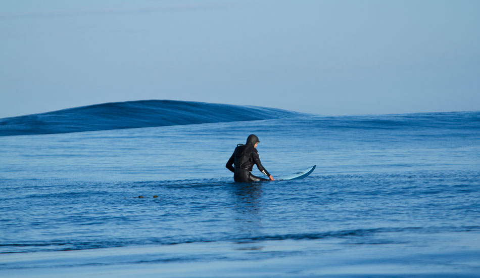 """Contemplation a hundred miles out to sea. Photo: <a href=\""""http://www.mavsurfer.com\""""> Frank Quirarte.</a>"""