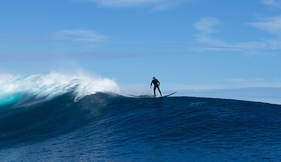 """Off the back and on to a clean slate. Photo: <a href=\""""http://www.mavsurfer.com\""""> Frank Quirarte.</a>"""