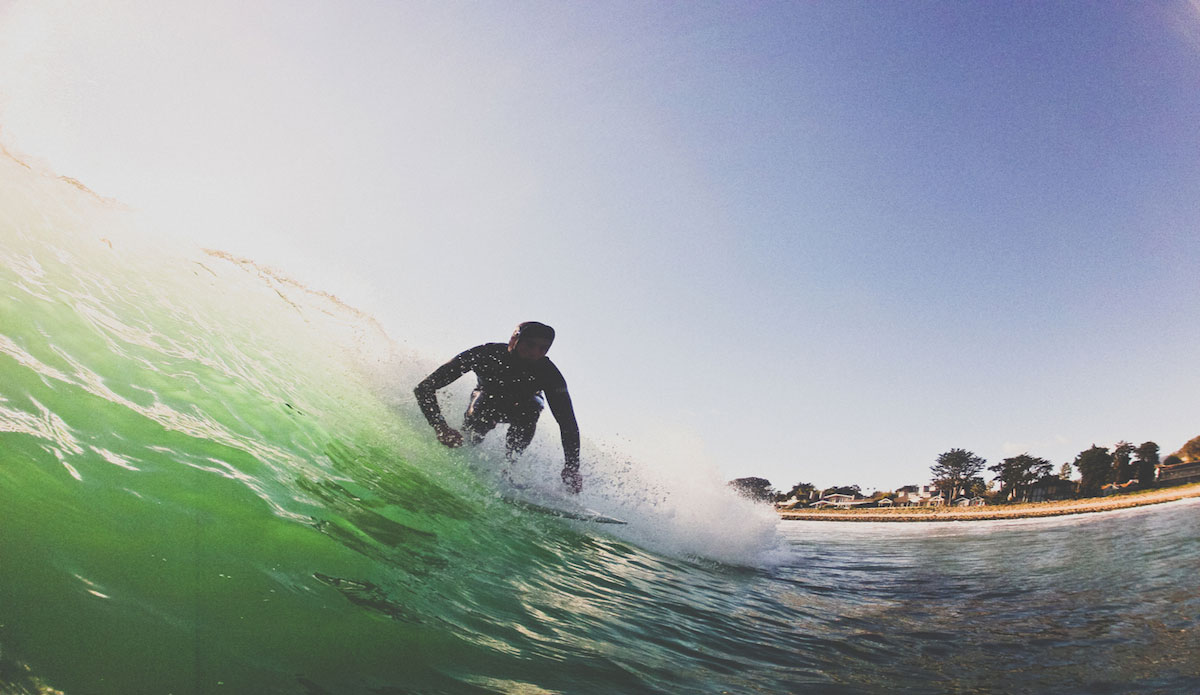West Newport on an overcast day. It\'s really easy to score some fun ones here when the sand is right and the crowd is minimal. Photo: Gregory Swanson