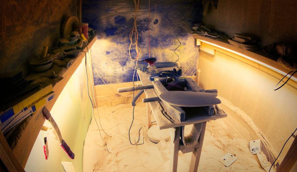 "The (mini) shaping bay. Photo: <a href=\""http://www.jrkenworthy.com\"" target=\""blank\"">Kenworthy</a>"