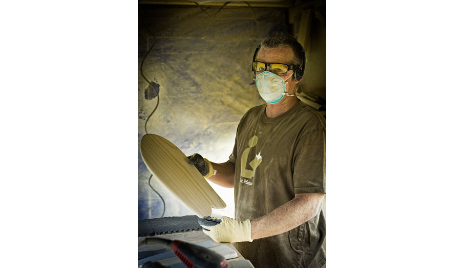 """The craftsman with his art. Gary Brown. Photo: <a href=\""""http://www.jrkenworthy.com\"""" target=\""""blank\"""">Kenworthy</a>"""
