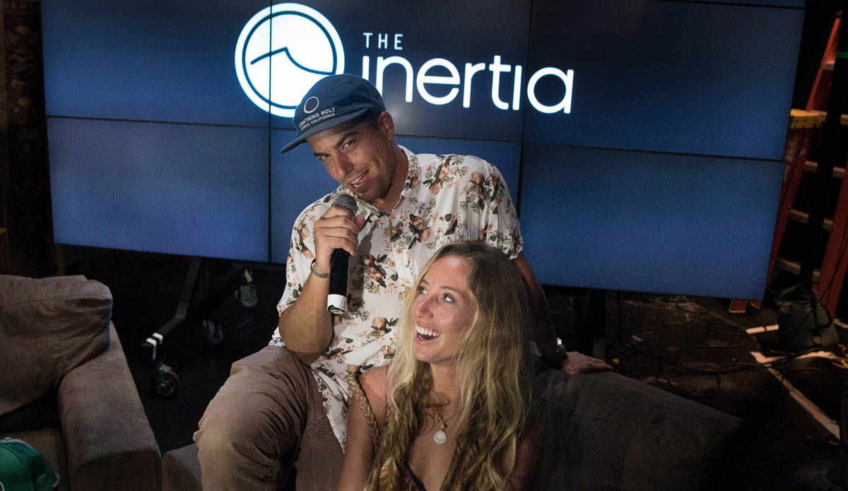 The Inertia\'s Toby Aimer and Shannon Quirk hosted their own Q&A, but everyone was too busy with Kelly and Rob to care. Photo: Juicewhale
