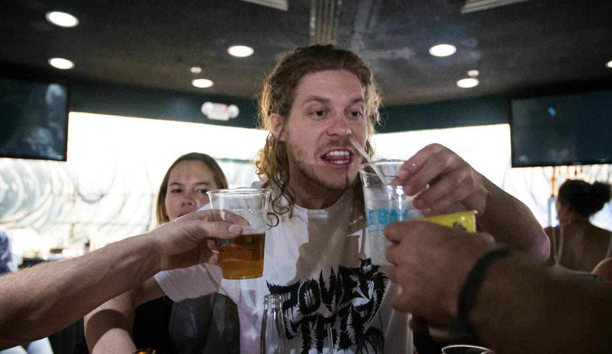 Comedian and Workaholics star Blake Anderson getting amongst the fun with a few tasty adult beverages. Photo: Juicewhale