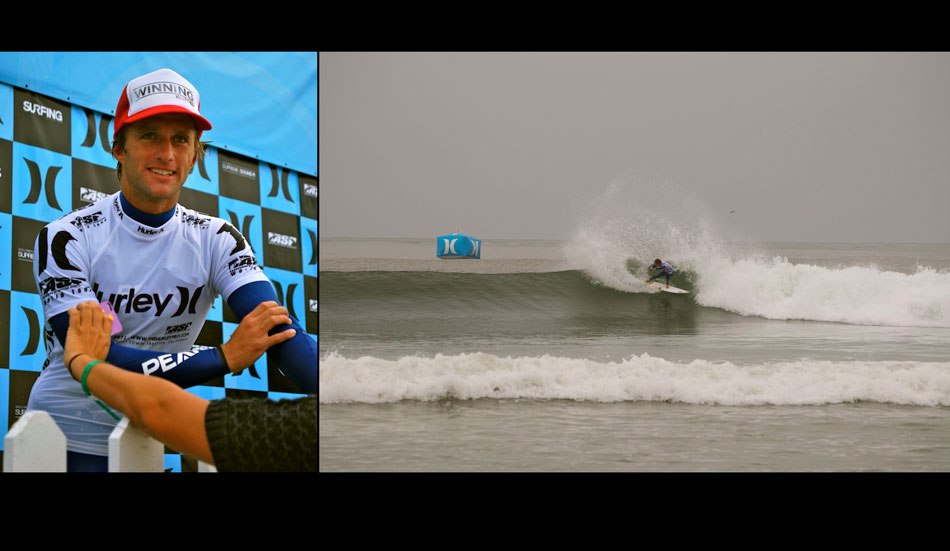 "Josh Kerr, trying to soak the buoy. Photo: <a href=\""http://patrickhourihanmedia.com/\"" target=_blank>Patrick Hourihan</a>."