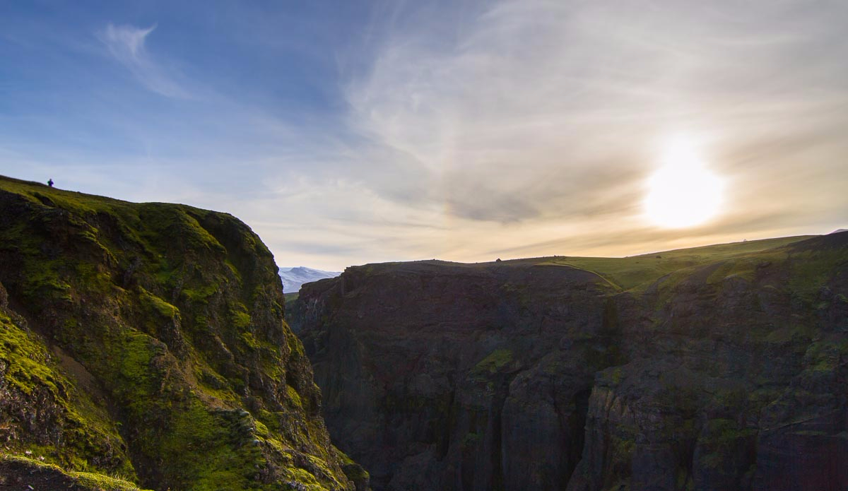 Sunset from a canyon. Photo: Ben Bireau / PuraVida Images
