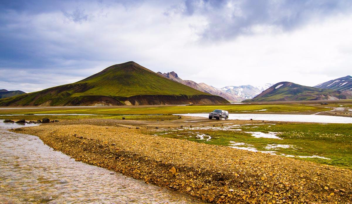 Start of the trek: Laudmanalaugar site. Photo: Ben Bireau / PuraVida Images