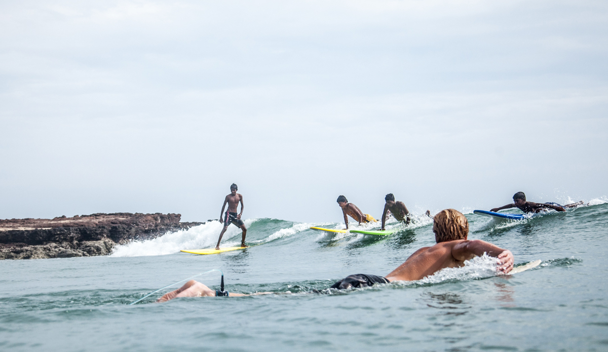 """Yousaf, Mohamed, Habeeb and Nabill are aiming to catch the wave. Photo: <a href=\""""http://www.Godoberta.com\"""">GodoBerta.com</a>"""