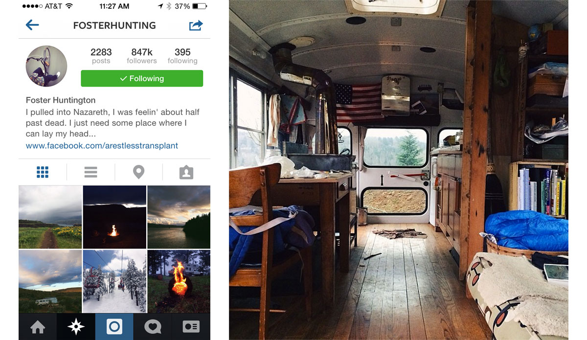 """The originator of van life,\"" so says Cyrus Sutton, is Foster Huntington. His feed should come with a wanderlust warning. Photo: <a href=\""http://instagram.com/fosterhunting\"">Foster Huntington Instagram</a>"