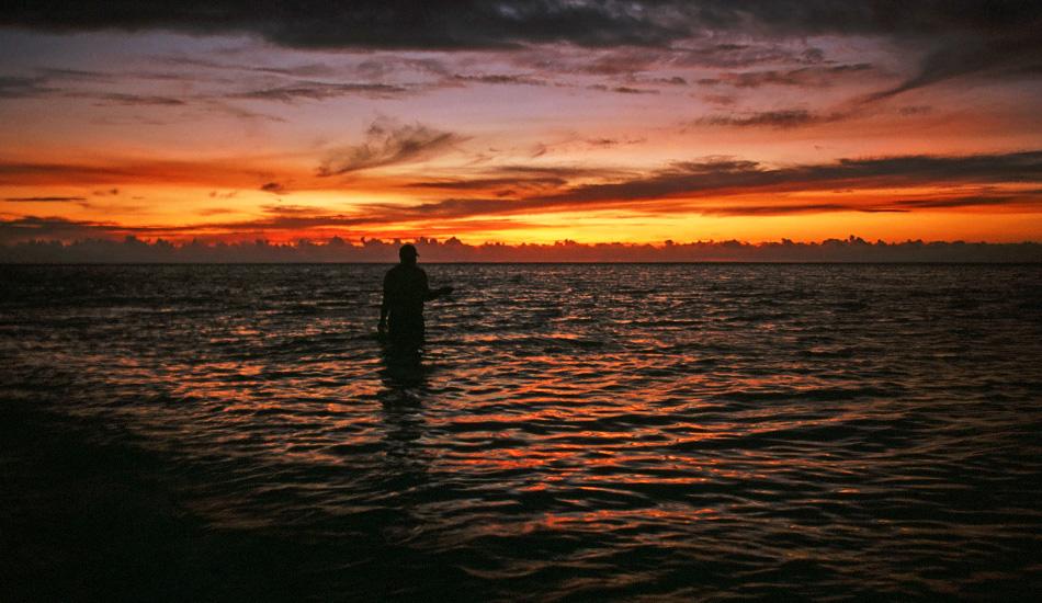 Hand fishing in Tavarua. Photo: Jared Aufrichtig